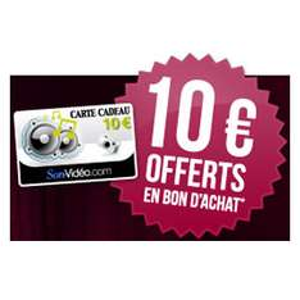 10€ offerts en bon d'achat contre présentation de votre installation