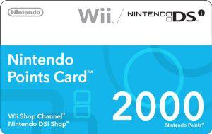 Carte Nintendo Points 2000 (=20€) (Nintendo DS/Wii)