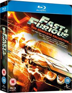 Coffret Blu-ray Fast and furious 1-5 (4 premiers film en français, dernier en anglais)