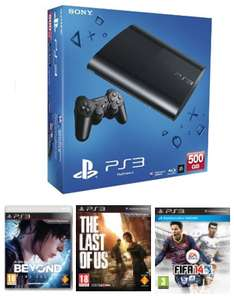 Console PS3 500 Go + Beyond Two Souls + The Last of Us + Fifa 14 / Port inclus