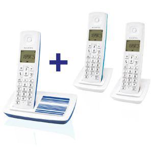 Téléphone sans fil Alcatel Versatis E100 Trio Bleu avec 2 combinés