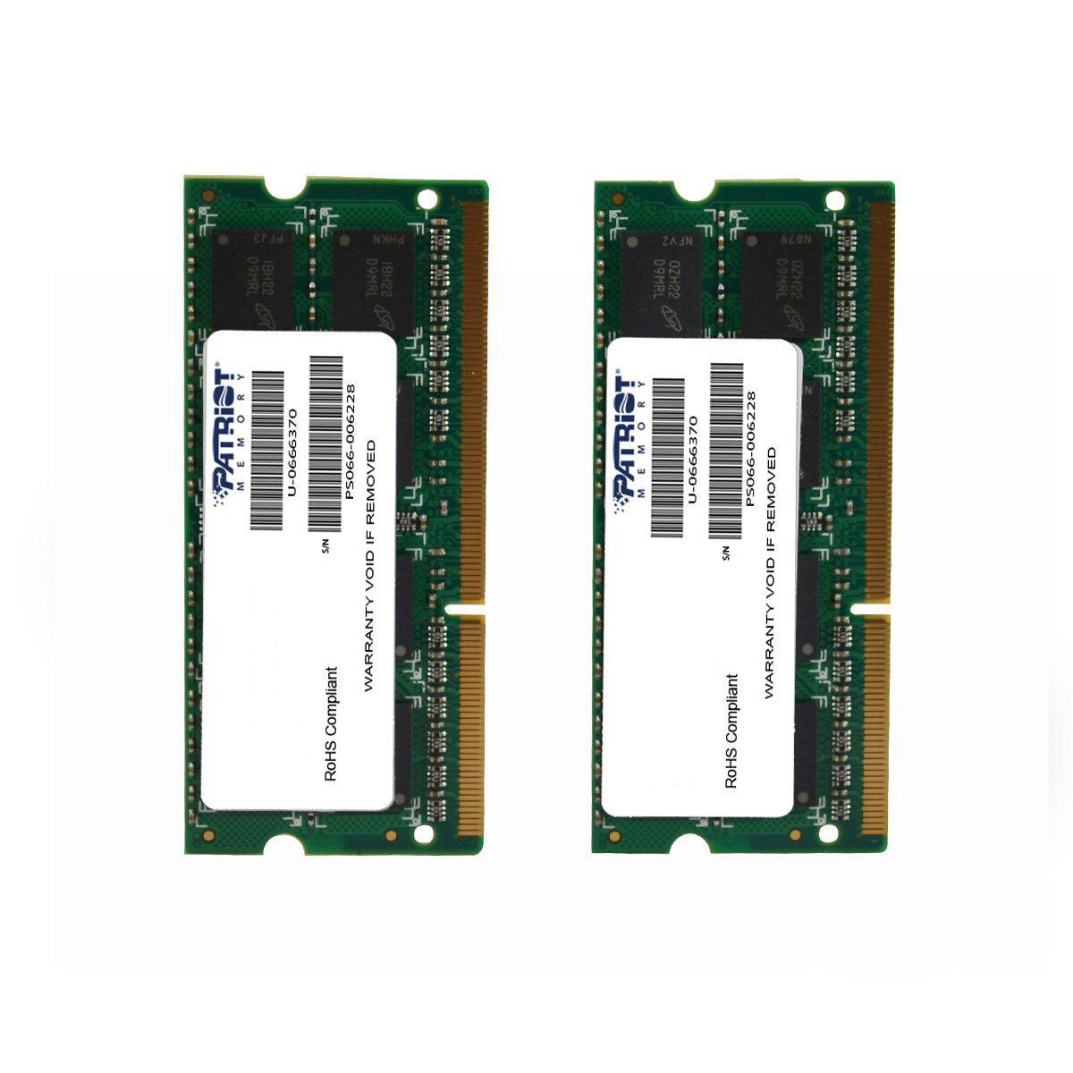 2 barrettes de ram Patriot PSA38G1333SK 8Go (2x 4GB) Signature Line 1333MHz SODIMM