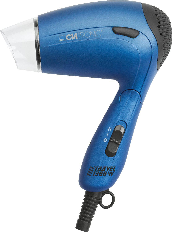 Sèche cheveux pliant Clatronic HTD 3429 - 1300W bleu ou rouge / livraison gratuite