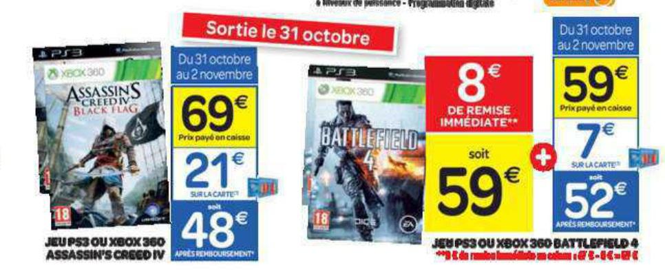 assassin's Creed 4 Black Flag sur Ps3 et Xbox 360 (remise sur carte fidelité)