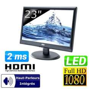 """Moniteur 23"""" AOC E2350shk (HDMI, DVI-D et VGA)"""