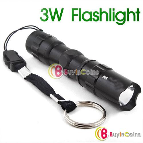 Lampe torche LED 3W AA