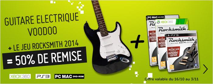 """""""Bundle"""" Rocksmith 2014 + Guitare électrique Voodooii ( PS3/ 360 )"""