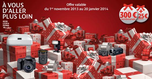 Offre Canon Multi-produits : Remboursement jusqu'à 300€ sur une sélection de produits