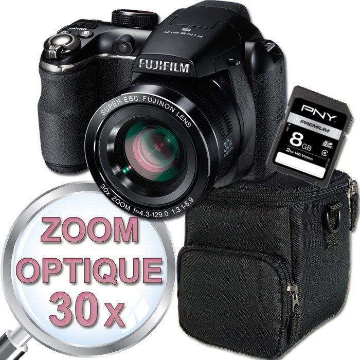 Bridge Fujifilm S4500 + Etui + Carte SD 8 Go