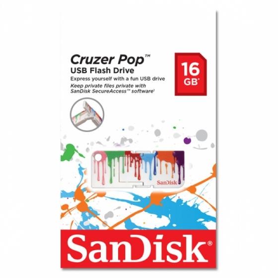 Clé USB 2.0 SanDisk Cruzer Pop 16Go (Paint)