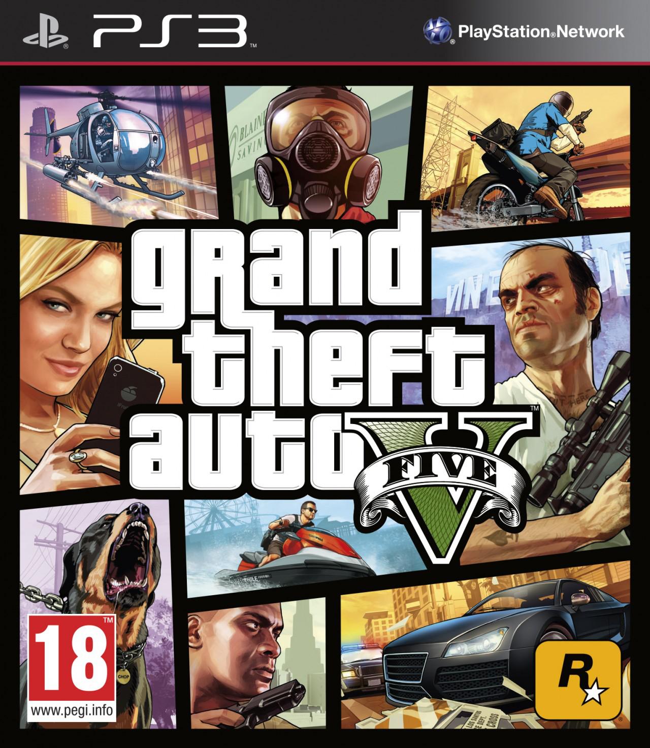 GTA 5  sur XBOX 360 et PS3  (-10 € via l'application Skyrock), l'unité