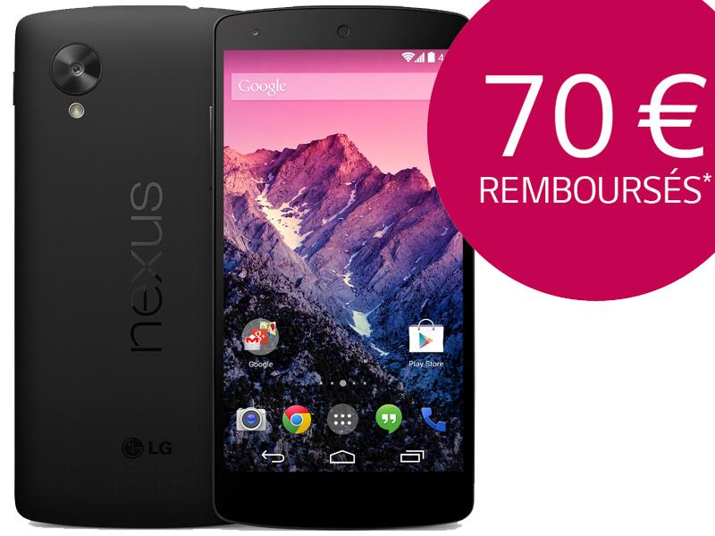 ODR de 70€ pour les Google Nexus 5 achetés chez des revendeurs (hors Google Play)