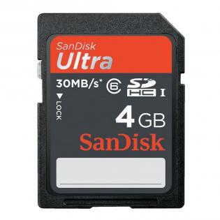 Sélection de carte SD Sandisk à prix cassé - Ex : SanDisk SDHC 4Go Class 6