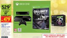 Console XBOX One  + Call of Duty Ghosts ou Fifa 14 (50€ crédités sur carte)