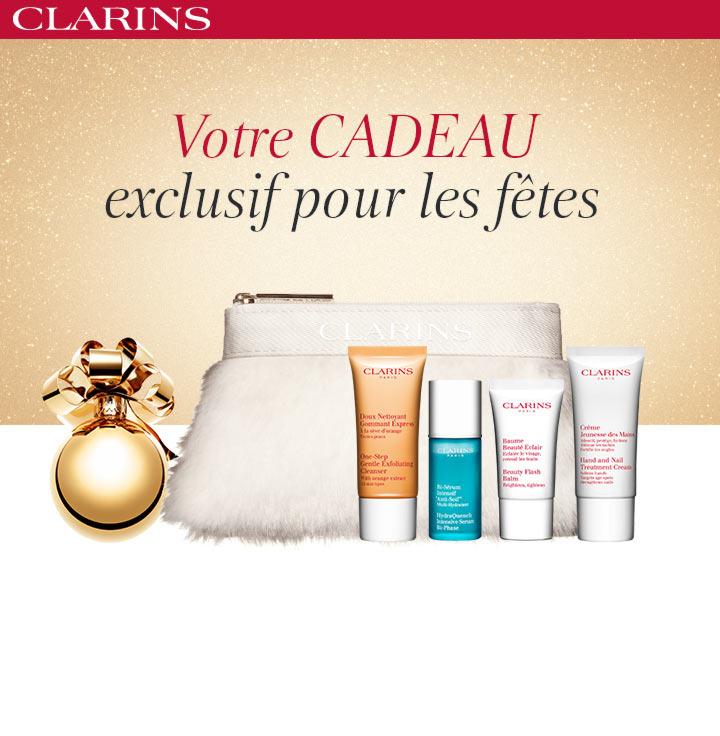 Kit beauté Clarins offert dès 50€ d'achats (via Shopmium)