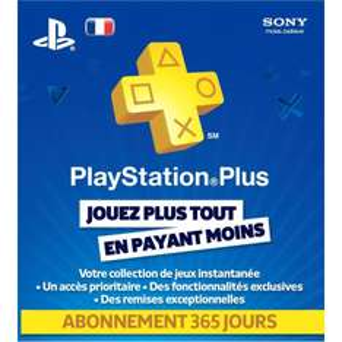 Playstation plus Abonnement PS+ 1 an pour PS3 PS Vita et PS4 (via Buster à 34.99€)