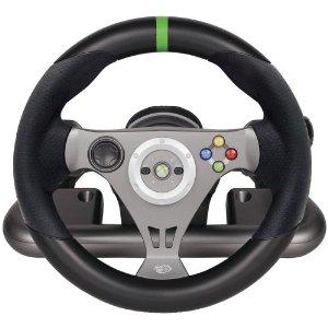 Volant de course sans fil et pédales pour Xbox 360