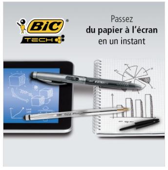 Bic 2 en 1 Stylus : Stylo - Stylet pour tablette/téléphone, via Shopmium