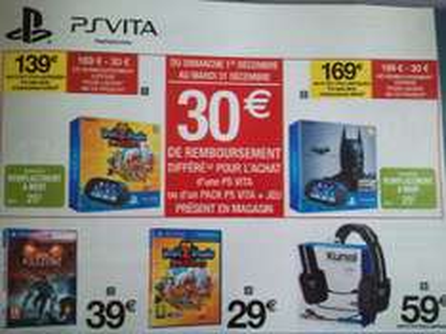 Pack PS Vita Wi-Fi + InviZimals Alliance + Carte Mémoire 4 Go (Avec ODR de 30€)