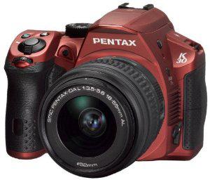 Kit Reflex Pentax K30 16 Mpix rouge mat + Objectif DA L18-55 mm