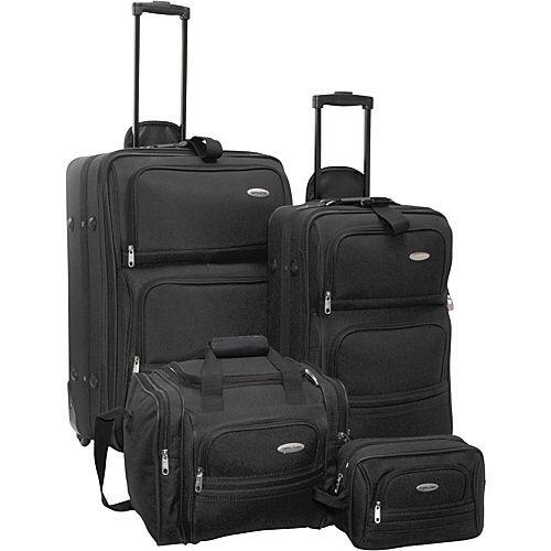 Set de 4 valises souple Samsonite Noires ou Rouges [Import US] / taxes + port inclus