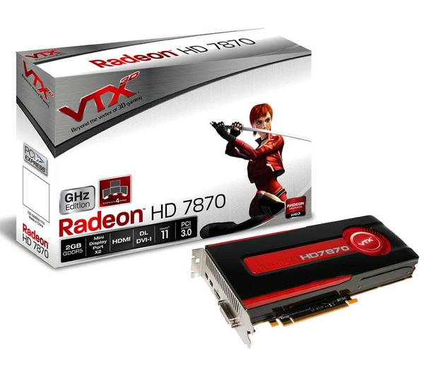 Carte graphique VTX3D Radeon HD 7870 - 2 Go - PCI-E + 2 jeux au choix