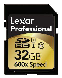 Carte mémoire Lexar SD 600X 32 Go Classe 10