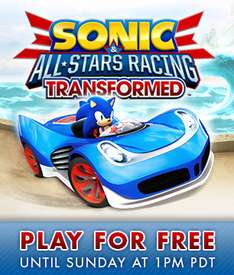 Promo + Week-End Gratuit sur Sonic & All Stars Racing Transformed