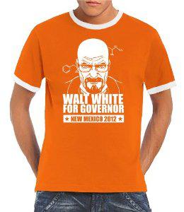 T-Shirt Breaking Bad - Walt White For Governor [Nombreuses Tailles et Couleurs)