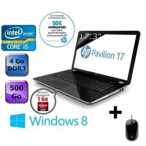 """PC Portable 17.3"""" HP Pavilion 17-e082sf + Souris optique HP (Avec ODR de 50€) + 2 mois de Deezer illimité"""