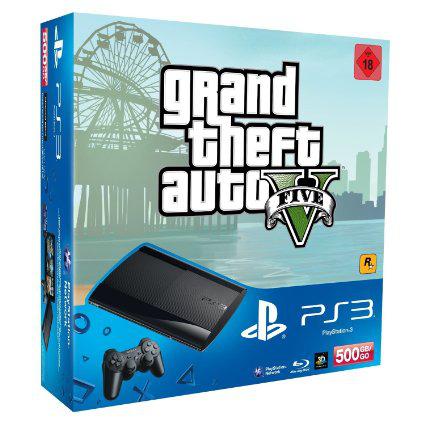Console PlayStation 3 Ultra Slim 500 Go + GTA V + Batman Arkham Origins (et son Steelbox)