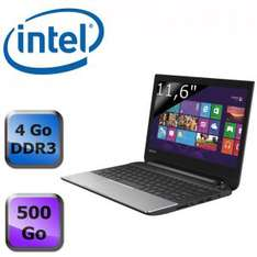 "Toshiba Satellite 11.6"" LED, 500Go HDD, 4Go de RAM"