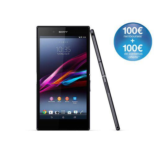 """Smartphone 6.4"""" Xperia Z Ultra Noir ou Blanc (Avec ODR de 100€)"""