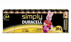 Duracell - Pile Alcaline AA x 24 Simply