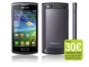 Smartphone Samsung S8600 Wave 3 Dark Grey - Avec ODR et code promo