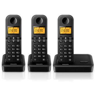 Telephone fixe Philips D1503 Trio Noir