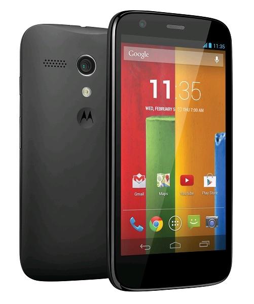 Smartphone Motorola Moto G 16Go Noir (Avec forfait sans engagement à 4,99€)
