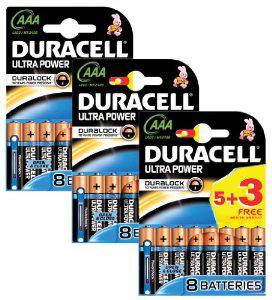 24 piles Duracell Ultra AAA Power Duralock