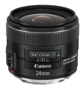 Objectif Canon optique EF 24 mm f/2,8 IS USM