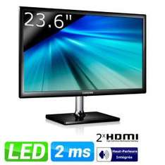 "Ecran 23,6"" Samsung S24C550VL LED Full HD - 2 ports HDMI - 2ms"