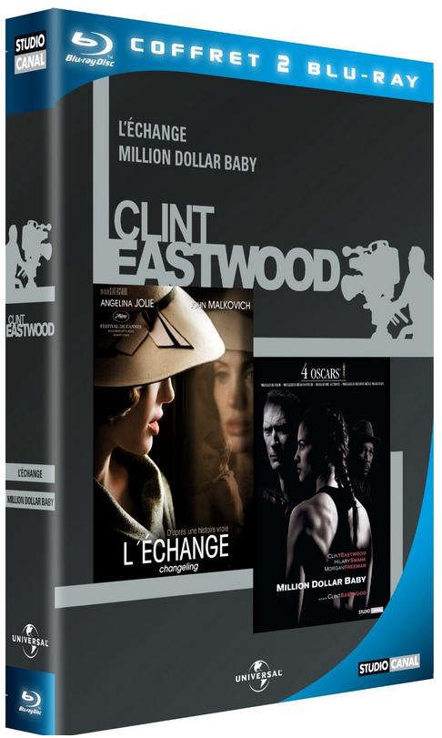 Coffret 2 Blu Ray L'Échange + Million Dollar Baby