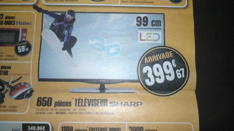 """Télévision LED 39"""" Sharp LC-39LE650E 3D Full HD"""