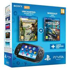 Console PS Vita + Uncharted Golden Abyss + Wipeout 2048 + Carte mémoire 4 Go