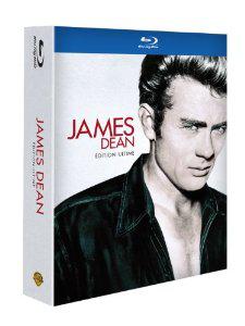 Coffret 3 Blu-ray James Dean – Géant + La fureur de vivre + À l'est d'Eden avec 3 DVD de bonus + livre + goodies