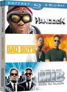 Coffret 3 Blu Ray Will Smith - Hancock + Bad Boys + Men in Black (vendeur tiers)