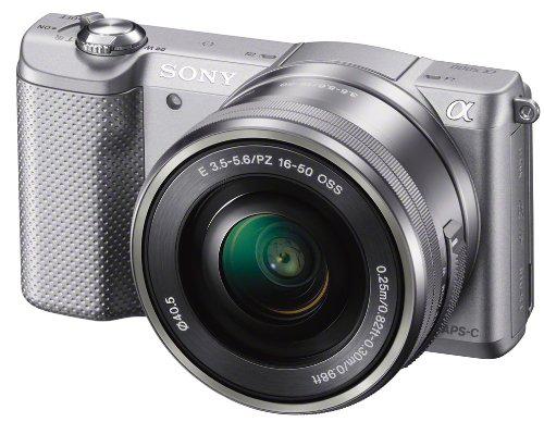 Pré-commande (Nouveauté 2014) : Appareil photo hybride Sony A5000 + Objectif 16-50 mm rétractable - Argent