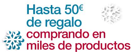 Jusqu'à 50€ de chèque cadeau pour 200€ d'achats parmi une sélection d'articles