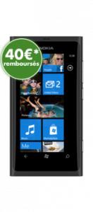 Smartphone Nokia Lumia 800, 16 Go, avec offre de remboursement