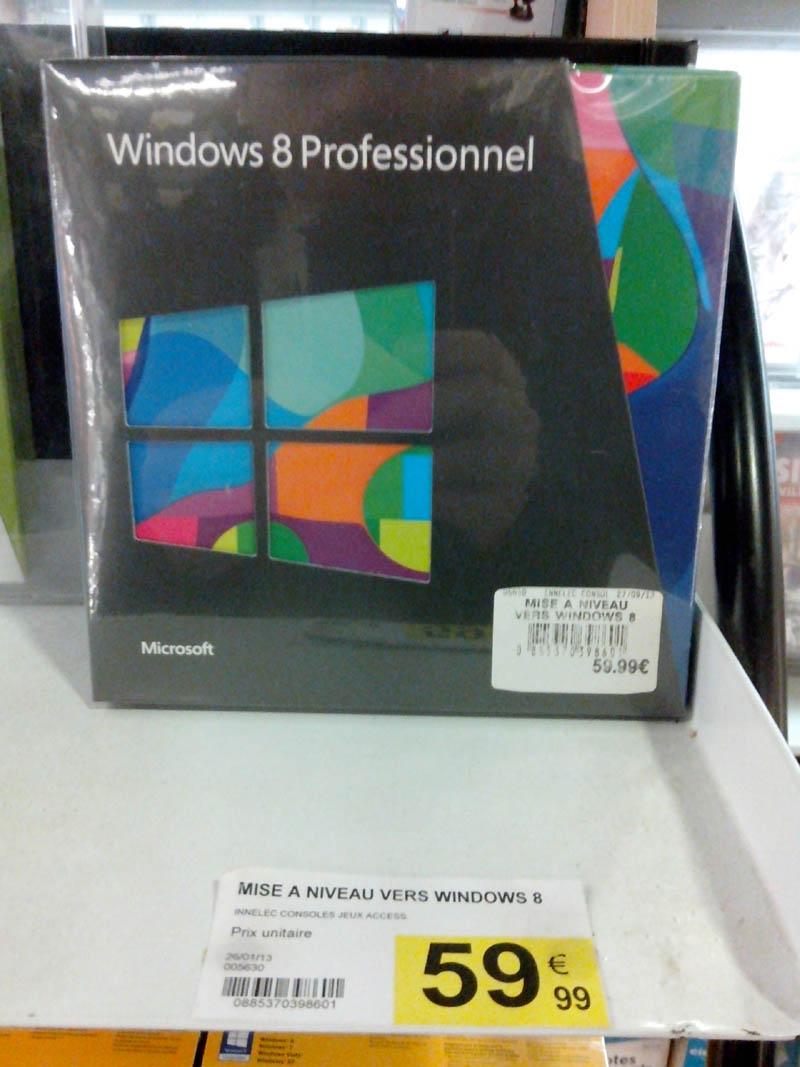 Mise à jour vers Windows 8 Professionnel