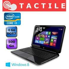 HP Pavilion 14-b157sf Sleekbook Tactile (i3, 4Go DDR3,500To)
